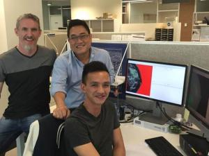 Chris Evans, Dr Kevin Nguyen, and Jack Trinh sitting together