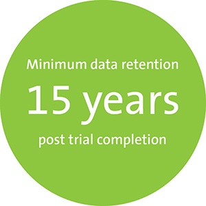 Minimum data retention 15 years